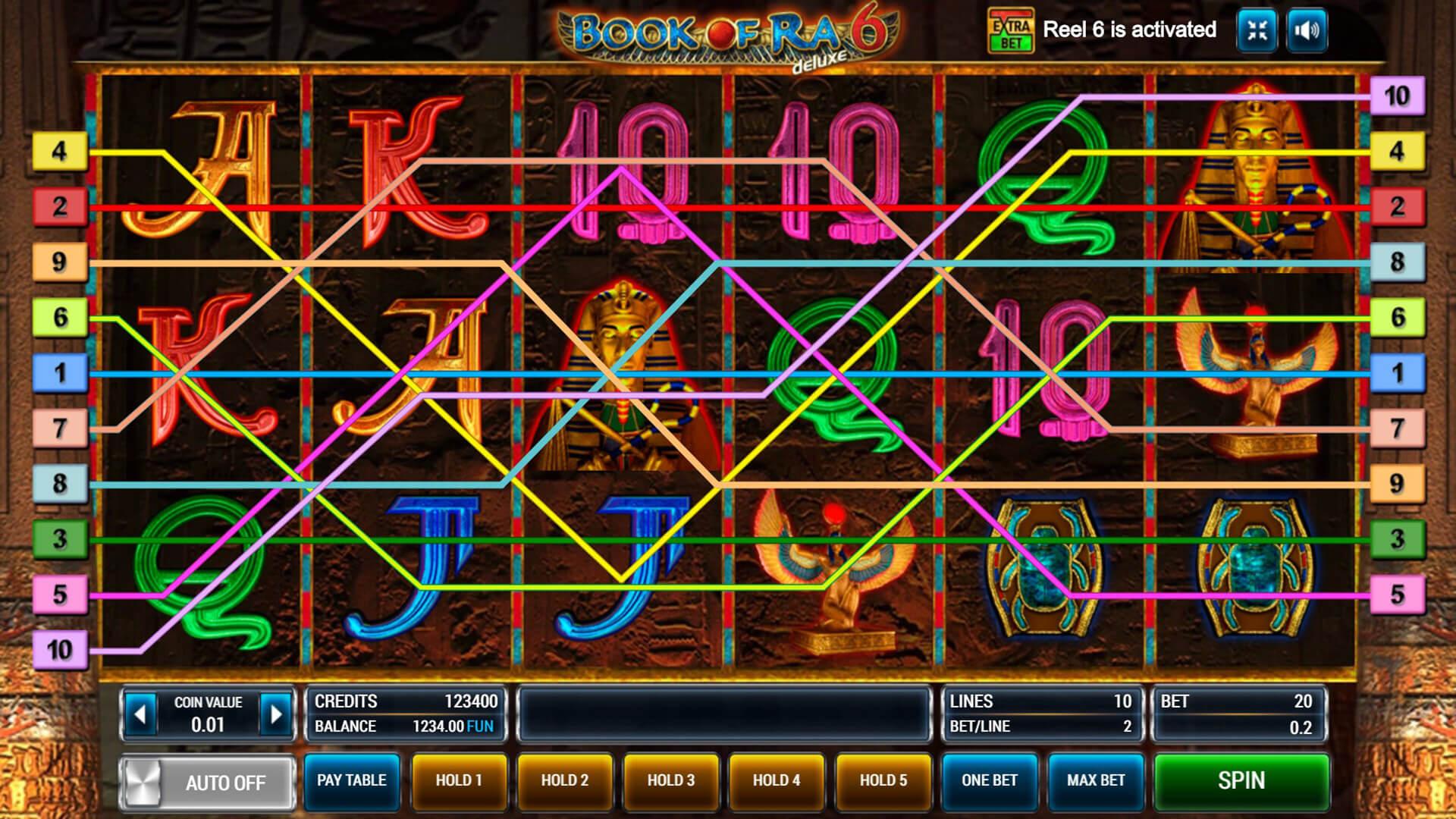 Изображение игрового автомата Book of Ra Deluxe 6 2