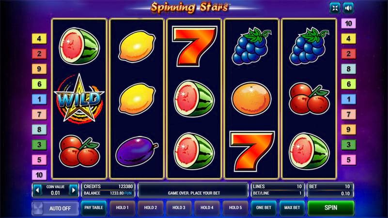 Изображение игрового автомата Spinning Stars 1