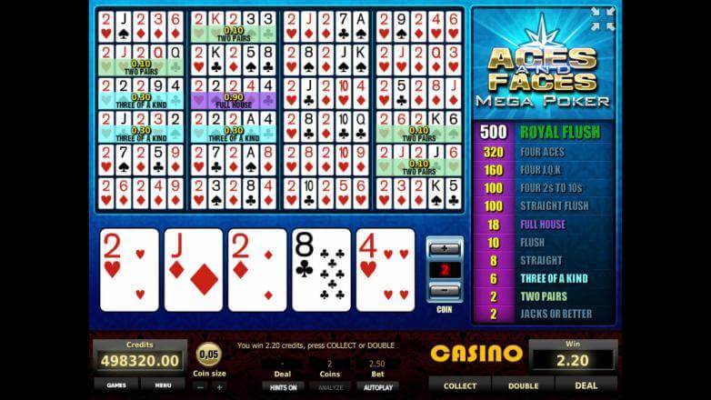 Изображение игрового автомата Aces and Faces Mega Poker 3