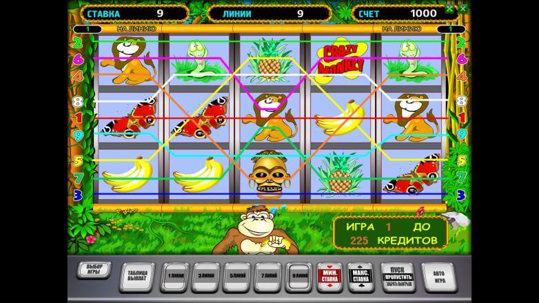 Изображение игрового автомата Crazy Monkey 1