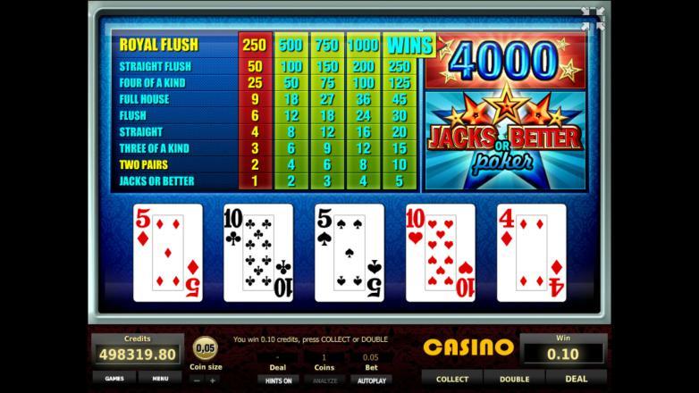 Изображение игрового автомата Jacks or Better Poker 2
