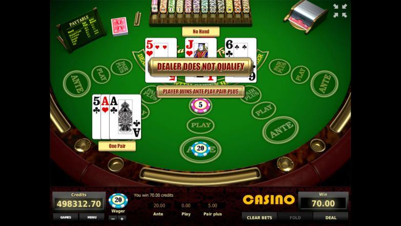 Изображение игрового автомата Three Card Poker 3